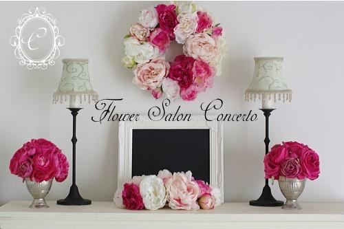 玄関に飾るお花。リース、ラウンドアレンジメント。